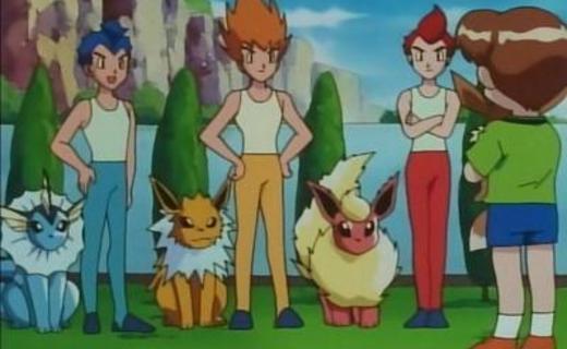 Pokemon Season 1 Episode 40 - The Battling Eevee Brothers
